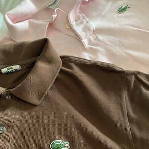 2 Lacoste men's short sleeve selling together